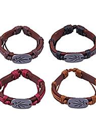 metalen patroon lederen armbanden (willekeurige kleur)