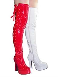 dedo do pé redondo salto robusto sapatos femininos sexy sobre o joelho botas mais cores disponíveis