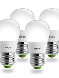 ienon® 4шт s14 e27 5w 400-450lm 6000k холодный белый свет грушевидной формы привело керамический плаче (100-240)