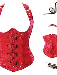 Fajas/Panties ( negro/rojo , Cuero sintético , Cintas ) - Boda/Ocasión especial/Informal - Fajas