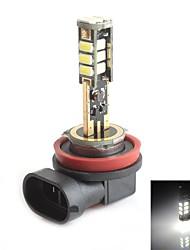 hj h8 5W 450lm 5500-6000K 15x2835 SMD LED branco lâmpada de luz de freio de estacionamento (12-24V, 1 peça)