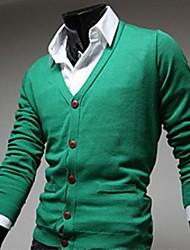 Men's V Neck Slim Knitting Sweater