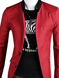 cuello sastre de los hombres chaqueta de manga larga base ocasional