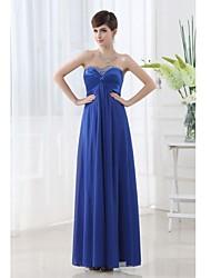 Vestido de Dama de Honor Corte A Escote Corazón - Hasta el Suelo Gasa