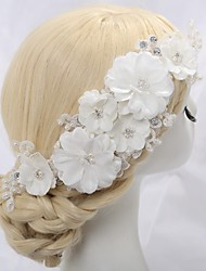 Women's Flower Girl's Lace Crystal Alloy Imitation Pearl Headpiece-Wedding Special Occasion Flowers