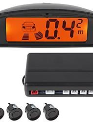 profissional 4 sensores sensor de estacionamento auto reverso sistema de detector de radar com display LCD (pessoas voz)