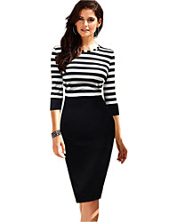 Women's Dresses , Cotton Casual Long Sleeve Weiliya