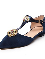 Women's Shoes Pointed Toe Flat Heel Sandals with Sparkling Glitter Shoes