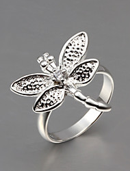 2016 High Quality Butterfly Noble 925 Sterling Silver Statement Party Ring For Women