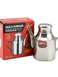 épaississement 304 sauce vinaigre inoxydable en acier / soja bouteille pot - argent (18 oz)