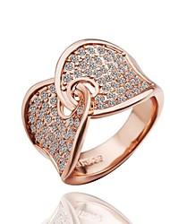 Fashion Women Rose Gold Rhinestone Fashion Rings(Rose Gold)(1Pcs)