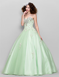 TS Couture Prom Formal Evening Dress - Sparkle & Shine Ball Gown Sweetheart Floor-length Tulle with Appliques Beading Crystal Detailing