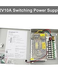 12v 10a dc 9 pouvoir boîtier d'alimentation auto-reset / 12v10a puissance de 120w alimentation / interrupteur d'alimentation, 110 / 220v entrée ca