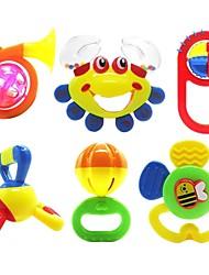 6pcs colorées multi-forme enfants anneau bébé jouets de cloche