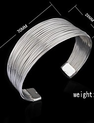 Fashion Sterling Silver Plated Fringe Bangle Women's Bracelet