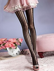 Hosiery Party/Casual Sexy Matching Vertical Stripe Jacquard Pantyhose(More Colors)