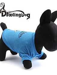 Katzen / Hunde T-shirt Blau Hundekleidung Frühling/Herbst Sterne / Buchstabe & Nummer