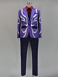 Inspired by Tokyo Ghoul Ken Kaneki Anime Cosplay Costumes Cosplay Suits Patchwork Purple Long Sleeve Top / Shirt / Pants / Tie