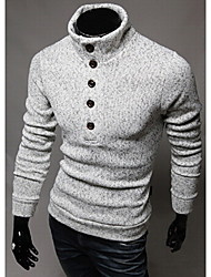 Playgame Men's Casual High Neck Sweater