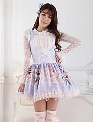 azul dulce lolita rosa princesa princesa vestido precioso cosplay