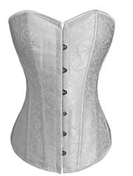 satin et poly-coton en plastique désossage corset shapewear (plus de couleurs) lingerie sexy shaper