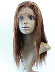 Promotional Top Quality Brazilian Lace Front Human Straight Half Wig130% #4 Straight Glueless Wigs