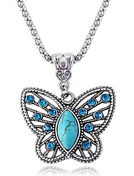 Women's Pendant Necklaces Sapphire Gemstone Simulated Diamond Alloy Fashion Blue Jewelry Party Daily Casual 1pc