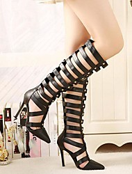 Women's Shoes Pointed Toe Stiletto Heel Knee High Boots