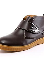 herenschoenen mode laarzen platte hak lederen enkellaars met slip-on meer kleuren beschikbaar