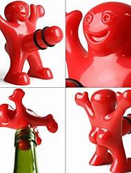 kreative glückliche Männer Stil Kunststoffflaschenverschluss 9,5 * 8,5 * 5,5 cm (3,74 * 3,35 * 2,17 inch)