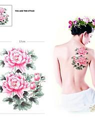 PC 1 rosa impermeable rosa respaldo pegatinas patrón de tatuaje