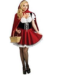 Cosplay Kostumer / Festkostume Eventyr Festival/Højtider Halloween Kostumer Rød Patchwork Kjole / Kappe Halloween / Karneval Kvindelig