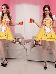 Beer Girl Yellow Dress Women's Carnival Costume