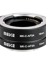 Meike mk-c-af3a auto metallo fuoco af macro tubo di prolunga set 10 millimetri&Di 16mm per Canon eosm micro fotocamere DSLR