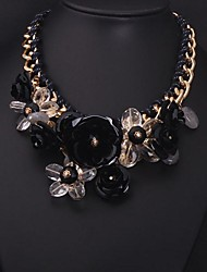 Women's Colorful in Europe and  Big  Exaggerated Costly Flower Necklace