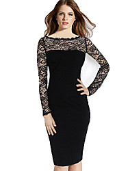 Belt Women's Lace Sheath Dress