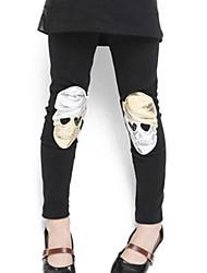 Girl's Black / Gray Leggings PU / Cotton Blend Winter / Spring / Fall