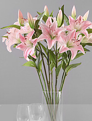 1 Филиал Пластик Лилии Букеты на стол Искусственные Цветы 15 x 15 x 70(5.91'' x 5.91'' x 27.56'')