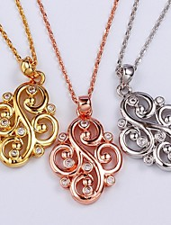 Chinese knot Unisex Vintage/Party/Casual Alloy/Cubic Zirconia/Platinum Plated/Rose Gold Plated Fashion Pendants