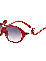 100% UV400 Women's Oversized Plastic Retro Sunglasses