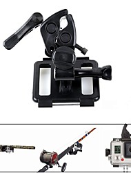 PANNOVO Universal Fixed Clip Holoder Gun/Fishing Rod /Bow and Arrow Mount Set for Gopro hero 3+/4