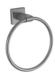anneau de serviette nickel contemporaine terminé paroi en acier inoxydable SUS304 monté accessoire de salle carrée