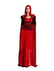 piccola guida rosso delle donne adulte cappuccio costume da strega