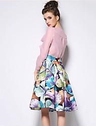 print floral bolha elegent saia de sagetech®women (mais cores)