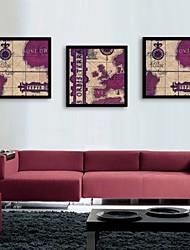 e-home® arte lona moldada, mapa quadro tela de definição de impressão de 3