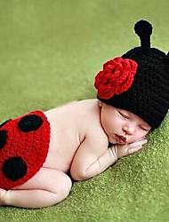 1 шт ребенка Фотография леди жук стиле с цветочным шляпу&шорты ручной работы вязать Возьмите фотографии дизайн 0-3 месяца