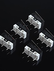 Mouse Micro Switch 1A 125V Ultra Small, High Quality Silver Contacts Mouse Micro Switch(5Pcs)