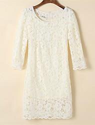 colarinho broto de seda vestido de sete manga rodada das mulheres