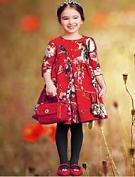 robe de princesse robe à manches courtes robe nouvelle année robes filles de fille jupe robe rouge