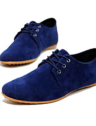 Men's Oxfords Spring Summer Fall Comfort Faux Suede Casual Flat Heel Lace-up Navy Black Brown